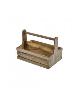 Skrzynka drewniana na przyprawy 20 x 15,3 x 18 cm - GenWare