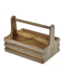 Skrzynka drewniana na przyprawy 24 x 16,5 x 18 cm - GenWare