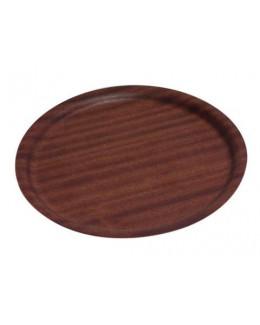 Taca antypoślizgowa z ciemnego drewna 27 cm - GenWare