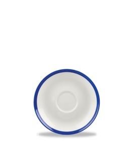Spodek 158 mm biało-granatowy | CHURCHILL, Retro Blue