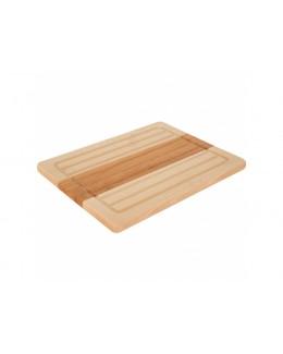 Deska do krojenia drewniana prostokątna DOMOTTI Woody 30 x 23 cm