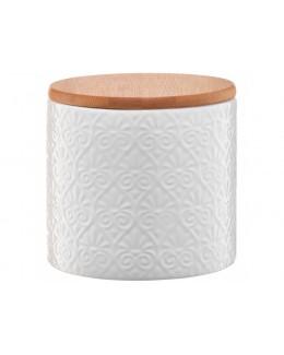 Pojemnik ceramiczny AMBITION Tuvo mozaika z bambusową pokrywką 670 ml