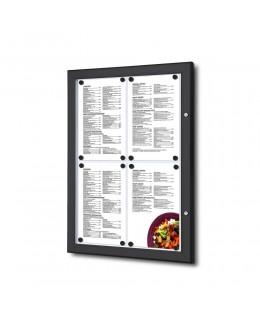 Czarna gablota na menu 4 x A4