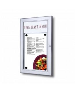 Zewnętrzna gablota na menu A4
