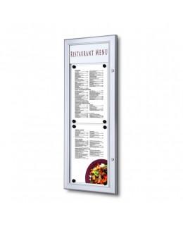 Zewnętrzna gablota na menu 2 x A4 T