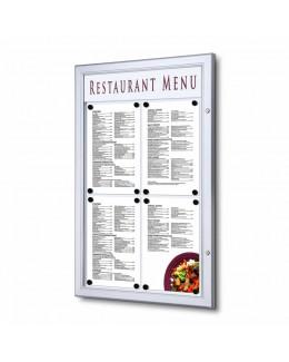 Zewnętrzna gablota na menu 4 x A4