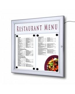 Zewnętrzna gablota na menu A4 z oświetleniem LED