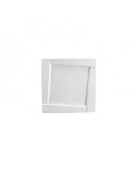 Talerz płaski kwadratowy deserowy - 16,5 cm - Ambition Kubiko