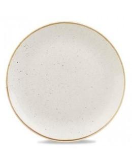 Talerz płytki Evolve 217 mm, biały - CHURCHILL, Stonecast Barley White