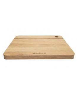 Deska drewniana dębowa kwadratowa 27 x 27cm - HPBA