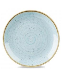 Talerz płytki bez rantu 165 mm, niebieski - CHURCHILL Stonecast Duck Egg Blue